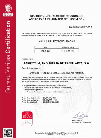 Bureau Veritas – Mallas Electrosoldadas