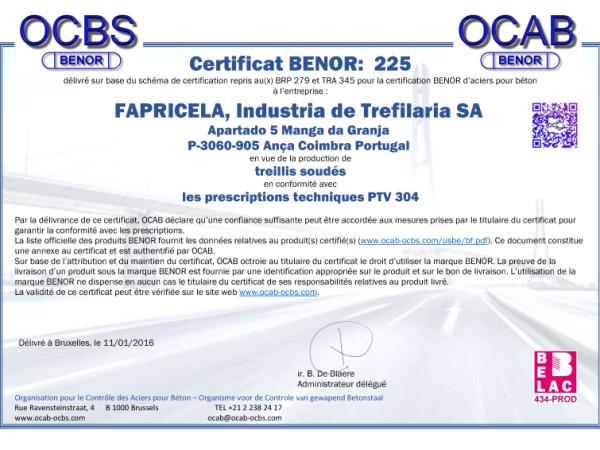 OCAB-OCBS – Treillis Soudes
